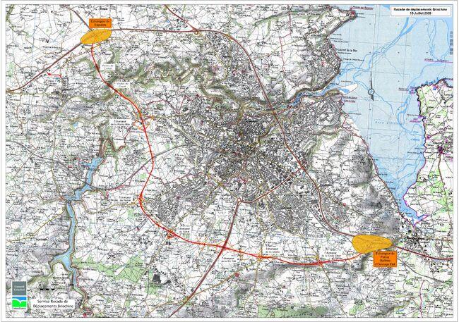 Rocade de Saint-Brieuc - Plan