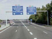 Echangeur entre la rocade ouest et la rocade est au sud de Toulouse