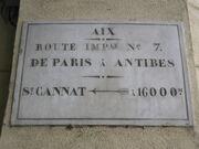 Plaque Route Impériale 7 - Aix-en-Provence