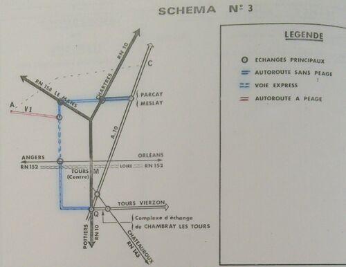 A85 1976 raccordement Tours schéma 3