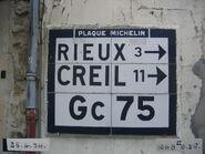 Plaque Michelin 60D075 - Cinqueux