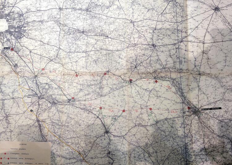 Projet d'autoroute Paris - Troyes (1968)