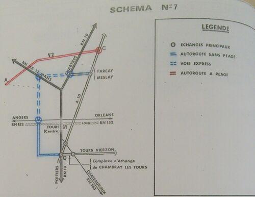A85 1976 raccordement Tours schéma 7