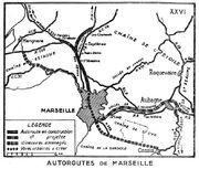Plan Autoroutes de Marseille