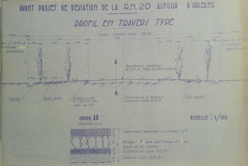 Orléans 1941 Profil en Travers