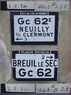 Plaque Michelin 60D062 - Senecourt