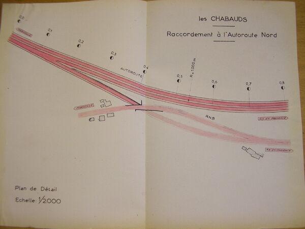 Projet déviation RN8 - Les Chabauds - 1955