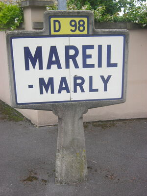 Panneau michelin mareil marly D98