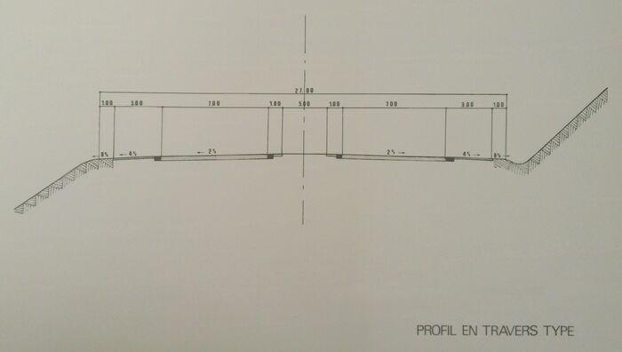 A85 1975 profil en travers