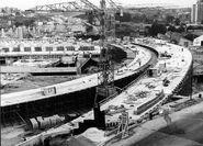 Porte de Bagnolet 1966 - Echangeur BP-A3 Viaduc BPnord A3