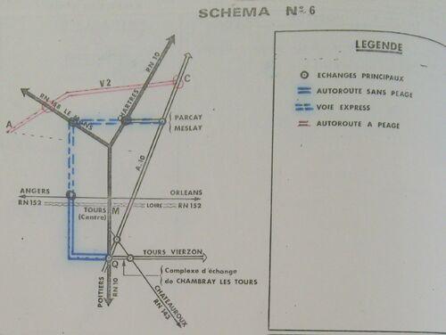 A85 1976 raccordement Tours schéma 6