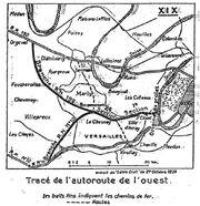 Plan Autoroute Ouest Paris
