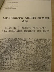 A55 Nîmes-Arles - Couverture DUP