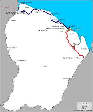Guyane routes