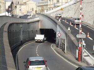 Entrée tunnel de la Major