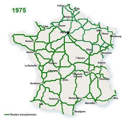 WS France Routes européennes 1975