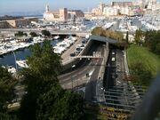 Tunnel du Vieux Port vu de Saint-Victor