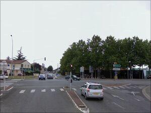 Croisement avec la D162 à Poitiers