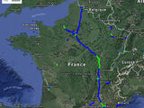 Cartes de mises en service des autoroutes françaises (1970-1980)