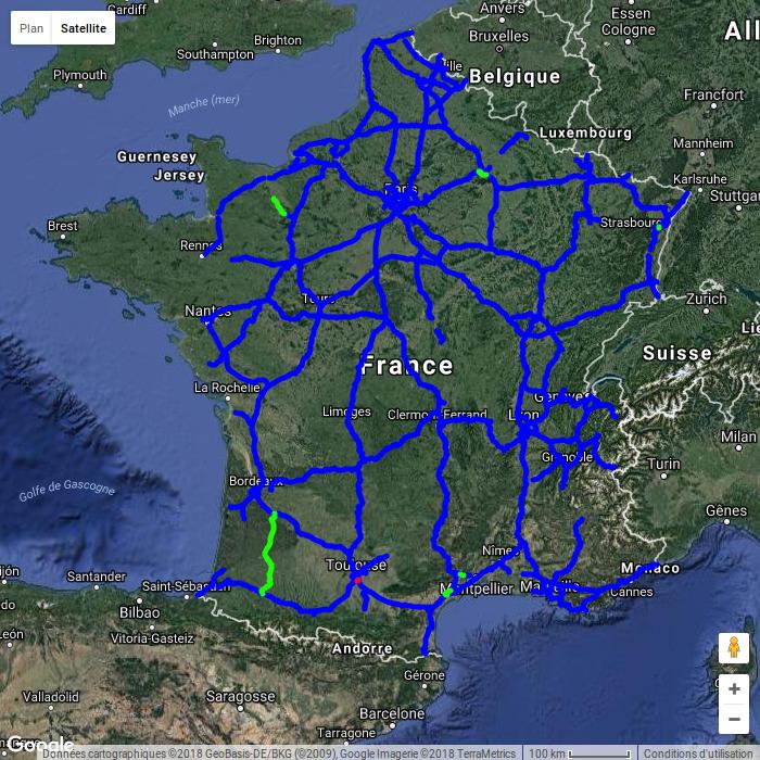 carte autoroute france 2020 Cartes de mises en service des autoroutes françaises (2010 2020