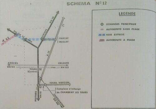 A85 1976 raccordement Tours schéma 12