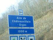 Aire de Châteauvillain - Orges