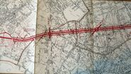 Antenne de Bagnolet 1946 - Tracé à Romainville