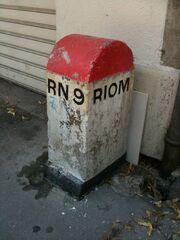 RN9 - Borne Clermont-Ferrand