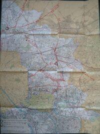 Projets voirie rapide banlieue Est - 1962