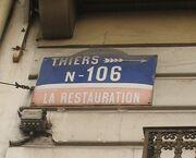 RN106 - Plaque murale à Vichy