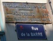 Plaque RN 42 Lille