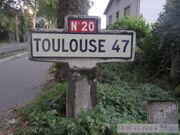 Poteau jalonnement 82N020 - Montauban