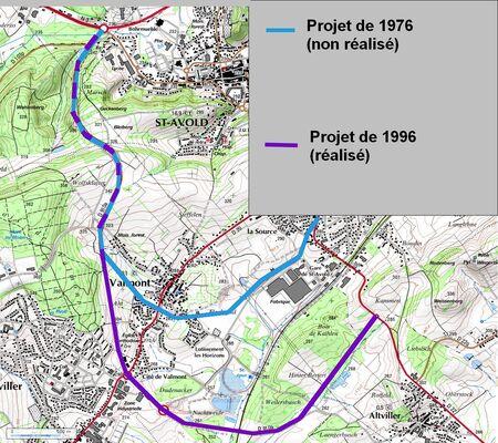 Déviation de St Avold (57 Moselle)