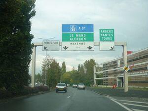 Rocade Laval (route de Tours)