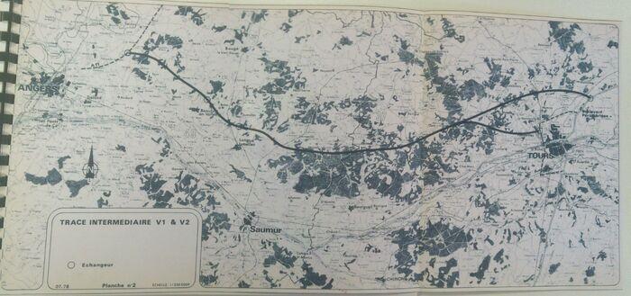 A85 1978 Tracé intermédiaire