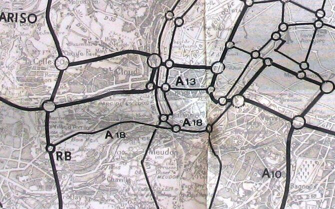 A18 Tracé 1965