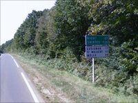 La D611 près de Fontaine-le-Compte