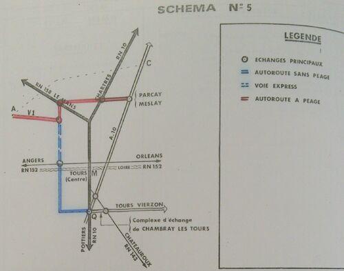 A85 1976 raccordement Tours schéma 5