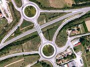Image aérienne de l'échangeur N147 - N520