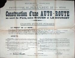 Autoroute du Nord - Enquete UP 1936