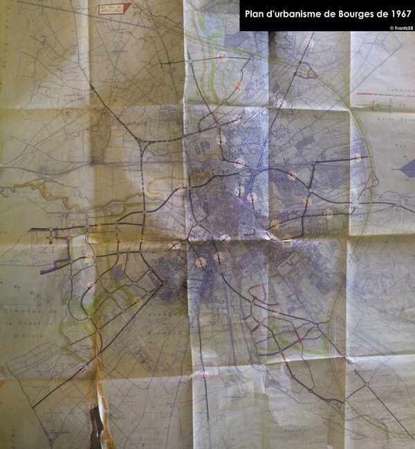 Plan d'urbanime de Bourges 1967