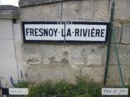 Plaque Michelin 60D032 - Entrée Fresnoy-la-Rivière