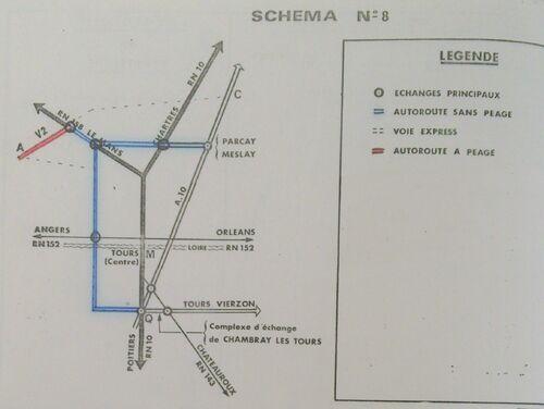 A85 1976 raccordement Tours schéma 8