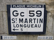 Plaque Michelin 60D059 - Sacy-le-Grand-B