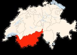 Situation Canton Valais