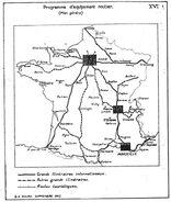 Grands itinéraires internationaux en 1941