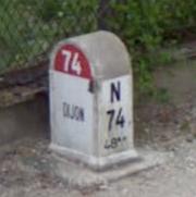 Borne RN 74 Dijon