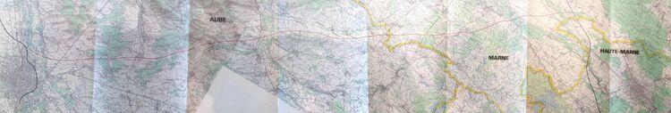 Autoroute Paris - Nancy variante 1 entre Troyes et Saint-Dizier (1968)