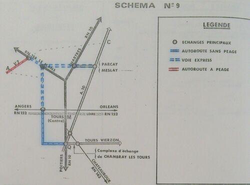 A85 1976 raccordement Tours schéma 9