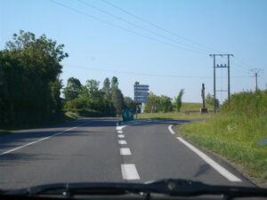 Sortie pour la D25 à côté d'Usson-du-Poitou